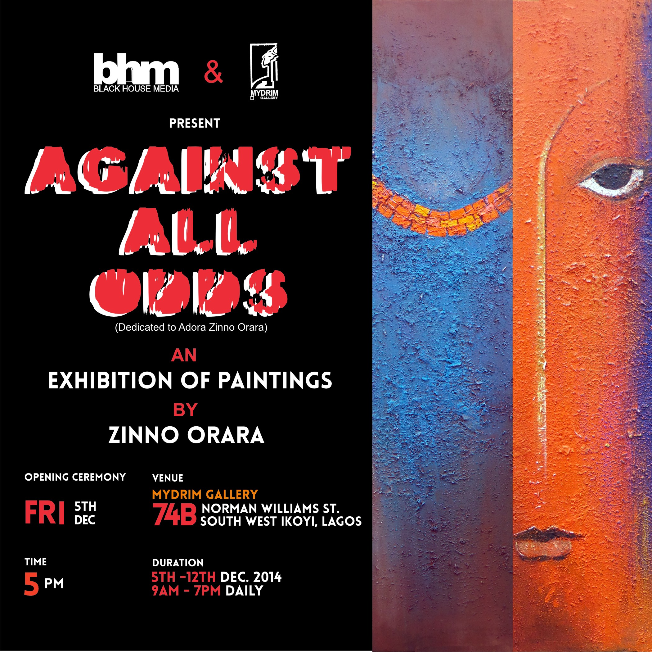 Grand Art Exhibition – Against All Odds – Set To Hold In Lagos