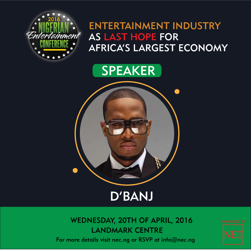 Music Superstar D'Banj To Speak At Nigerian Entertainment Conference
