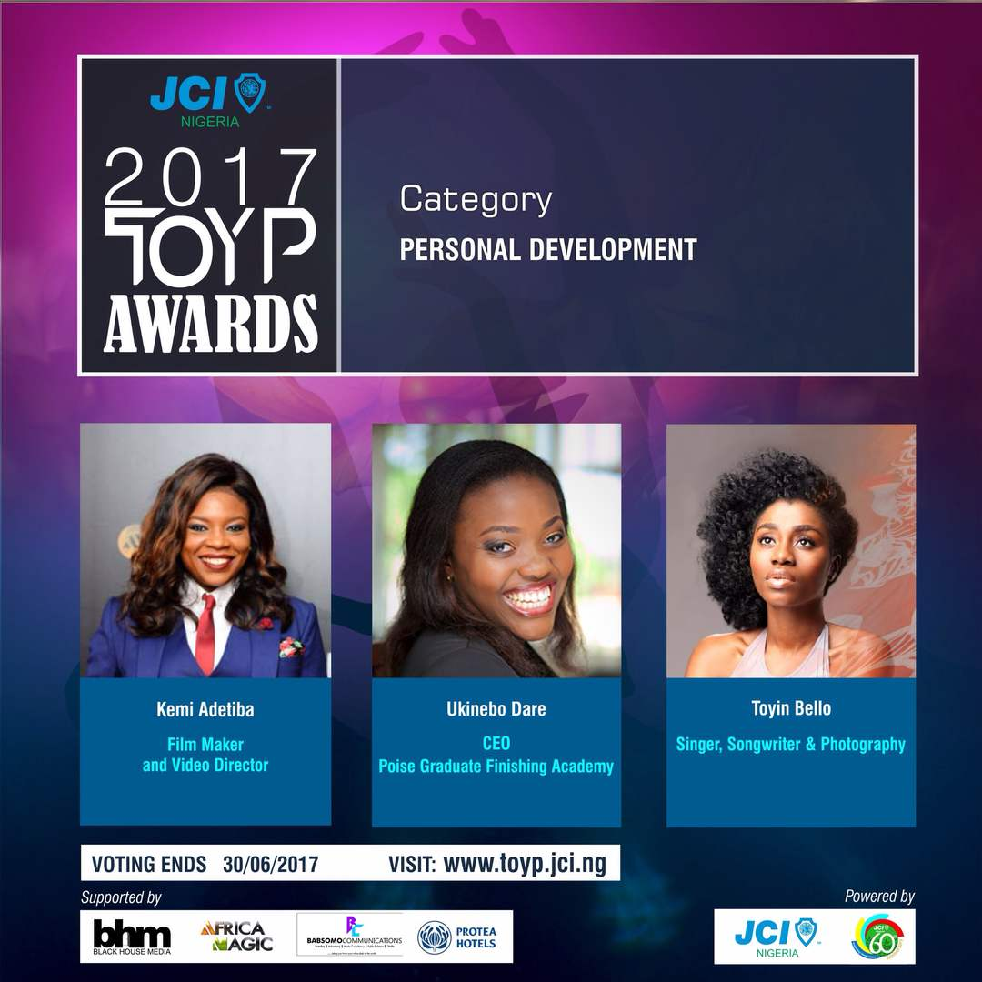Kemi Adetiba, Jason Njoku, TY Bello, Cobhams, 25 Others Shortlisted for 'Ten Outstanding Young Persons' Awards