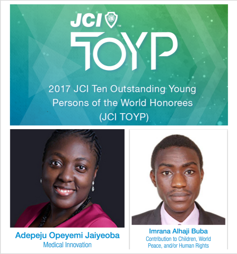 Two Nigerian Under-40s Are Finalists in Global Awards For Outstanding Young Persons