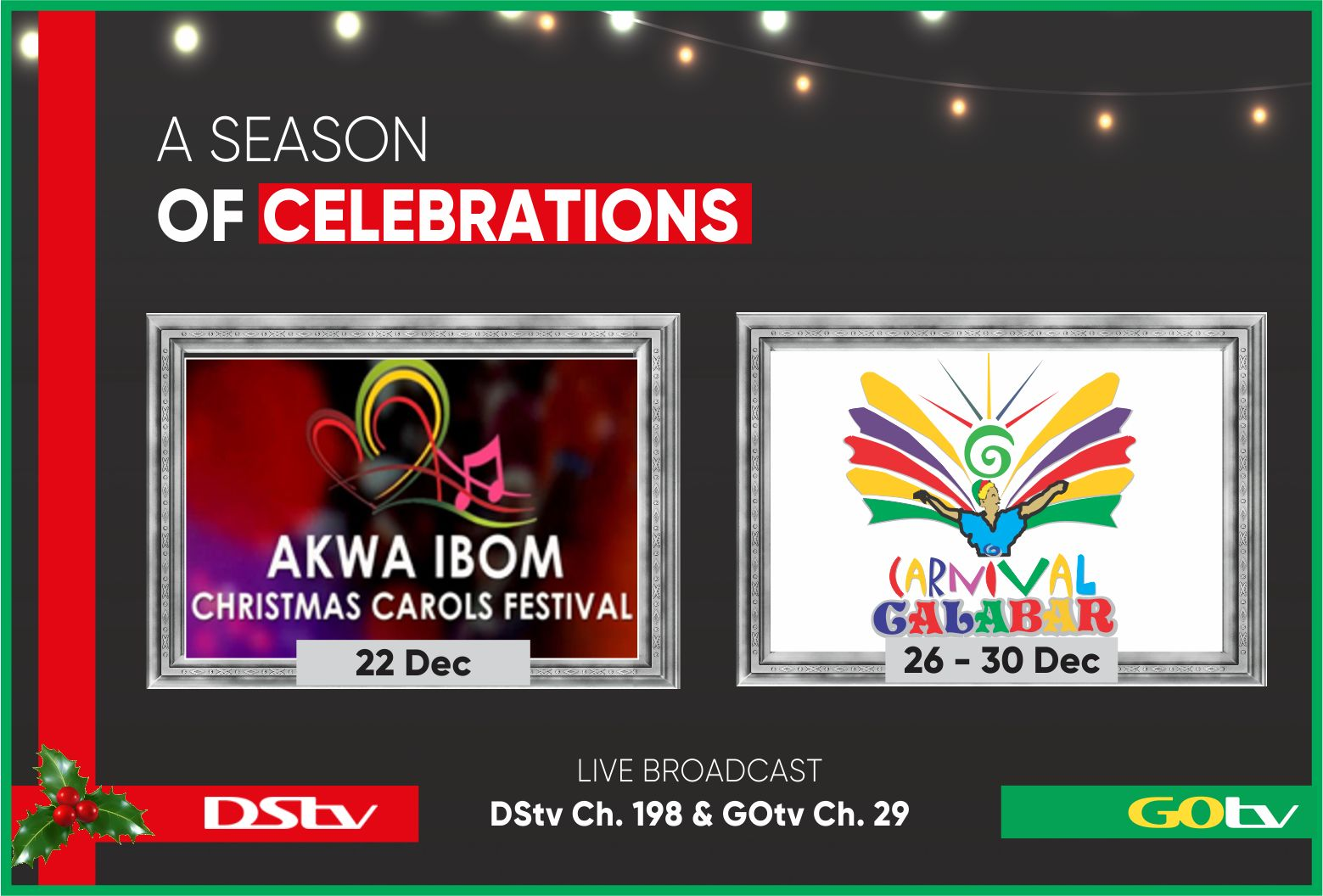 DStv, GOtv To Air Biggest Live Events Of The Festive Season on Pop-Up Channel