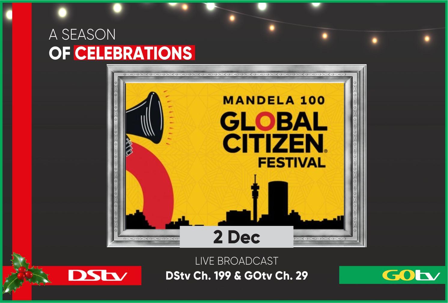 Mandela 100: DSTV To Air Global Citizen Festival