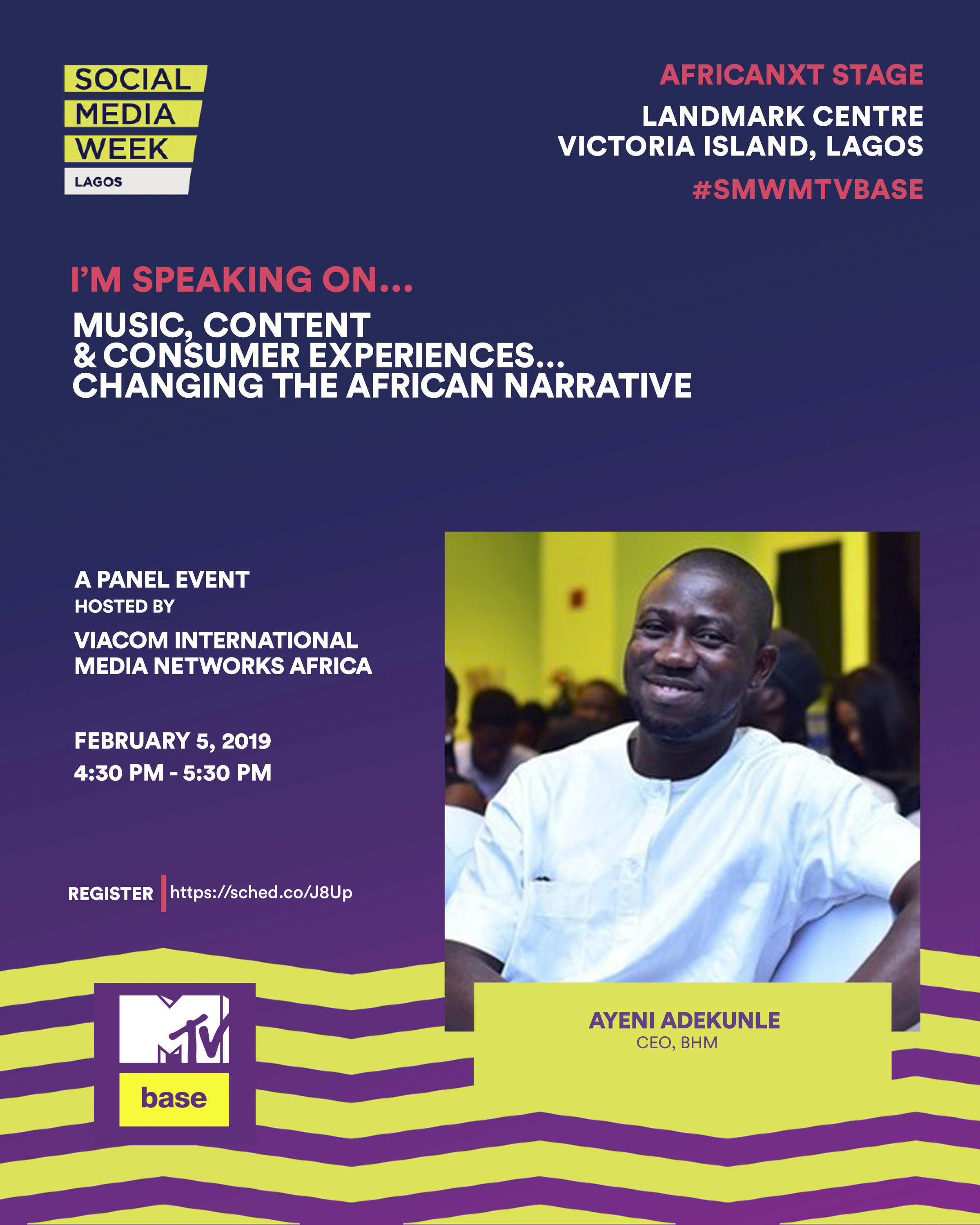 Social media week: BHM's Ayeni Adekunle joins Steve Babaeko, Basketmouth, others for Viacom session