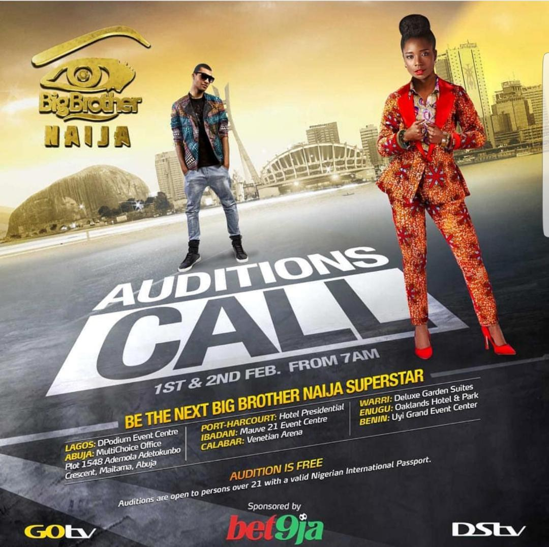 Auditions for BBNaija Starts On February 1st