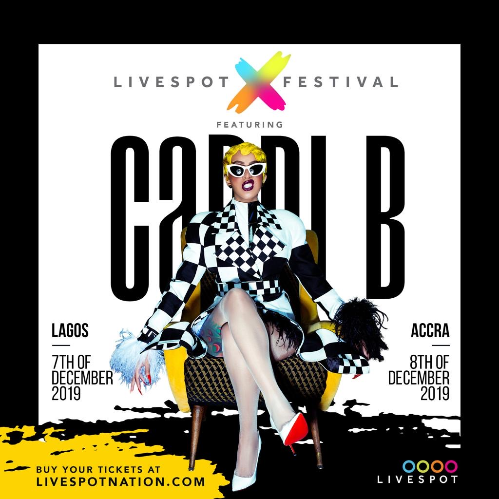 Cardi B To Make First Ever Appearance In Africa At Livespot X Festival!