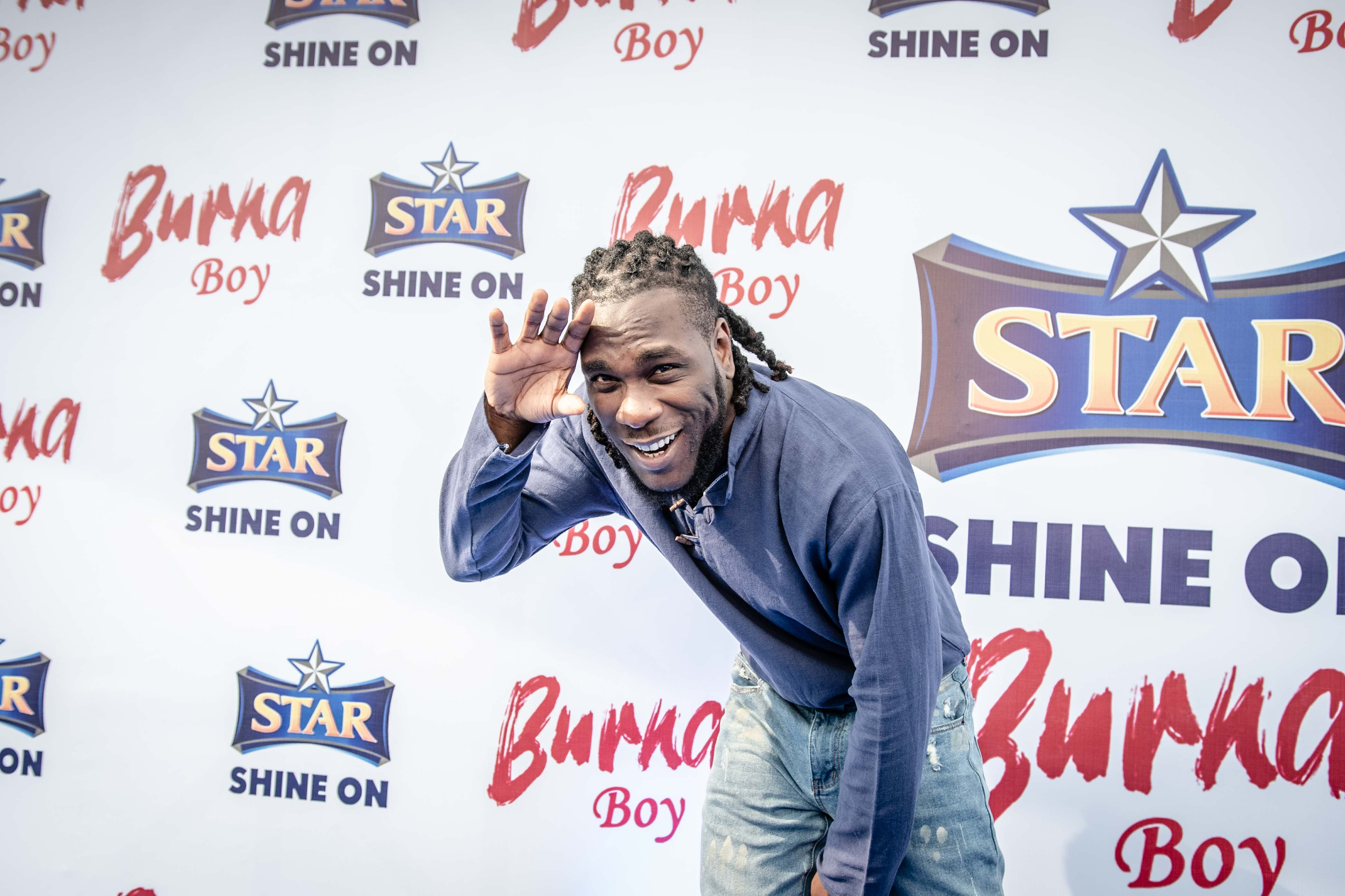 Burna Boy Is All Smiles In STAR Lager's All-New Campaign